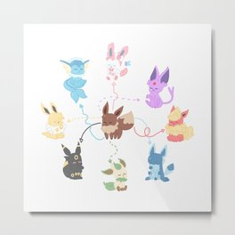 (POK) EEVEELUTION Metal Print