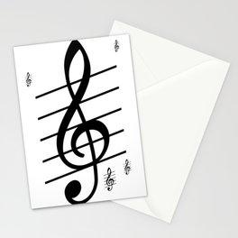 der Schlüssel zum Herz ist die Melodie   (A7 B0022) Stationery Cards