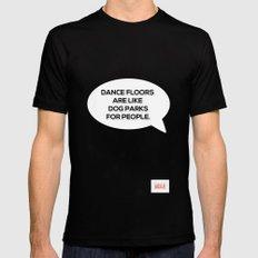 Dance Floors Black Mens Fitted Tee MEDIUM