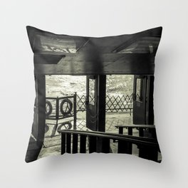 The Back of The Boat Throw Pillow