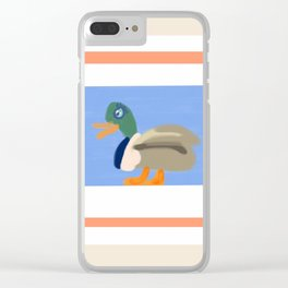 A Duck Walks the Talk Clear iPhone Case