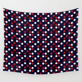 Red Poá Wall Tapestry