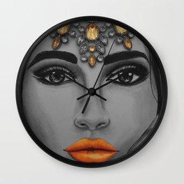 Tangerine Sky Goddess - by Ashley-Rose Standish Wall Clock