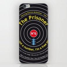 The Prisoner - Patrick McGoohan Vintage Decoration Print Posters iPhone & iPod Skin