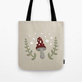 Mushroom Illustration Tote Bag