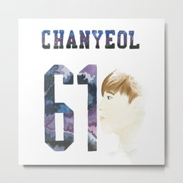 Chanyeol 61 Metal Print