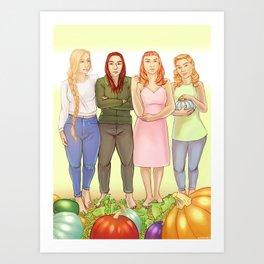 The Bonner Girls Art Print