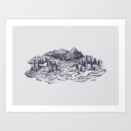 Cloud Mountains Art Print