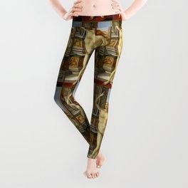 """Sandro Botticelli """"The Calumny of Apelles"""" detail Leggings"""