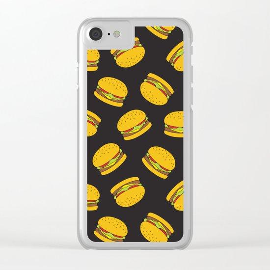 Burger Pattern  Everett co Clear iPhone Case