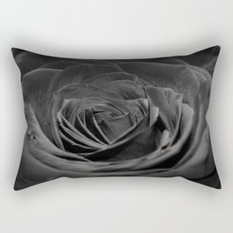 Grey Rose Rectangular Pillow