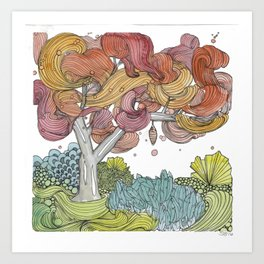 Cocoon Tree Art Print