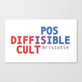 Difficult is Possible - Aristotle Canvas Print