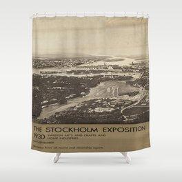 Vintage poster - Stockholm Shower Curtain