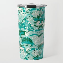 Dino world | blue Travel Mug
