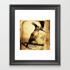 Coalminer Bird Framed Art Print