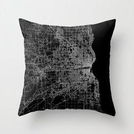 milwaukee map Throw Pillow