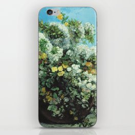 Gustave Courbet - Flowering Branches And Flowers iPhone Skin