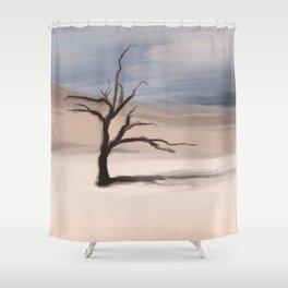 Alone Tree Shower Curtain
