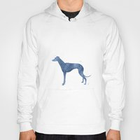 greyhound Hoodies featuring Greyhound by Carma Zoe