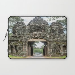 Leaving Through the Angkor Thom South Gate, Siem Reap, Cambodia Laptop Sleeve