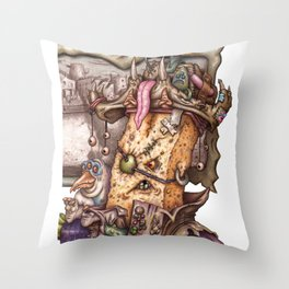 Kaptin Phyllin Throw Pillow