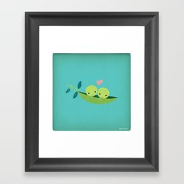 Two Peas in a Pod Framed Art Print