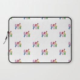 GRL PWR pattern Laptop Sleeve
