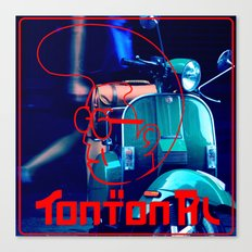 scooter red tonton AL Canvas Print