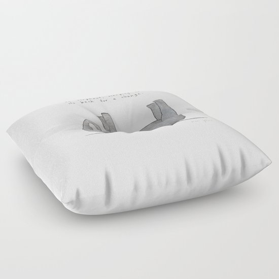 Floor Pillows With Backs : an elephant, sleeping on its back for a change Floor Pillow by Marc Johns Society6