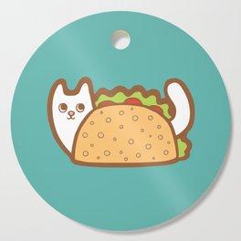Taco Cat White Cutting Board