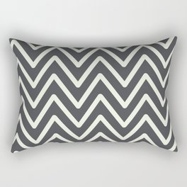 Chevron Wave Asphalt Rectangular Pillow