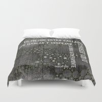 marx Duvet Covers featuring Groucho by Keka Delso