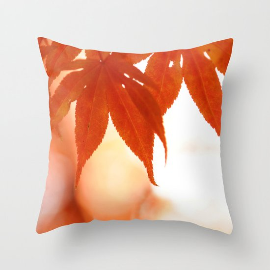 Maple Reds Throw Pillow