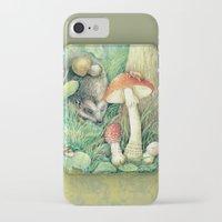 mushrooms iPhone & iPod Cases featuring Mushrooms by Natalie Berman