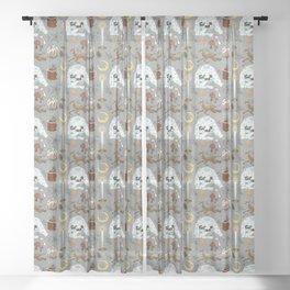 december days Sheer Curtain