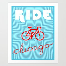 Chicago Bike Poster Art Print