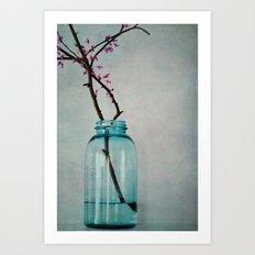 Branches Blue/Grey Art Print