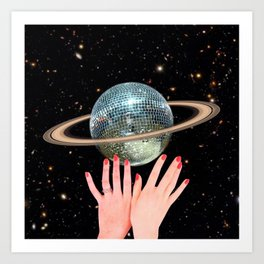 Saturn Disco Art Print