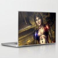 cyberpunk Laptop & iPad Skins featuring Cyberpunk by Tek Tan