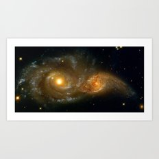 Intergalactic Bass Clef Art Print