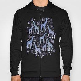 Blue Giraffe Pattern Hoody