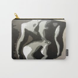 Abstract Female Silhouette Sepia toned Shadows Light study Carry-All Pouch