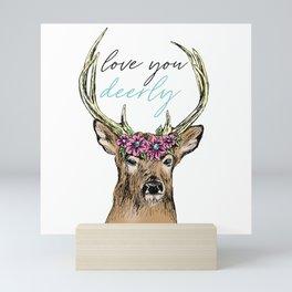 Love You Deerly Mini Art Print