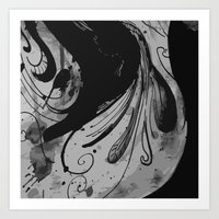 reassurance Art Prints featuring Ink II by Magdalena Hristova