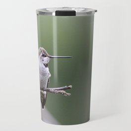 Hummingbird with bow in hair Travel Mug
