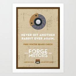 Vintage Car Garage Poster Art Print