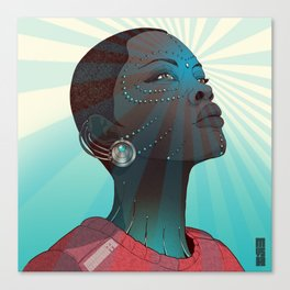Afro Android Canvas Print
