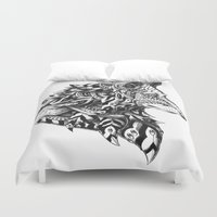 bioworkz Duvet Covers featuring Wolf Profile by BIOWORKZ