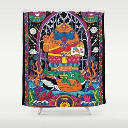 Pug Nang Kwak – Thai Goddess Of Wealth Shower Curtain